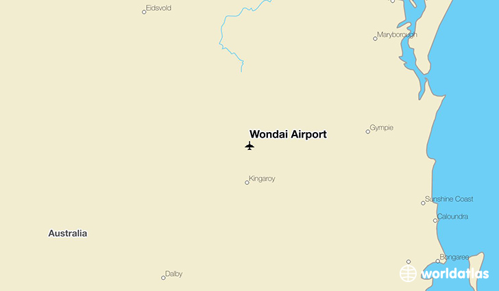 Wondai Airport location on a map