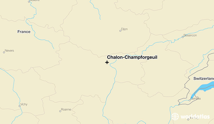 Chalon-Champforgeuil location on a map