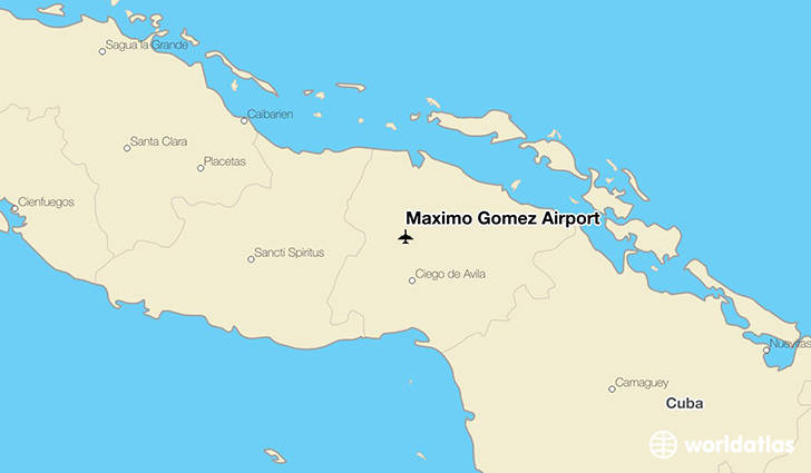 Máximo Gómez Airport location on a map