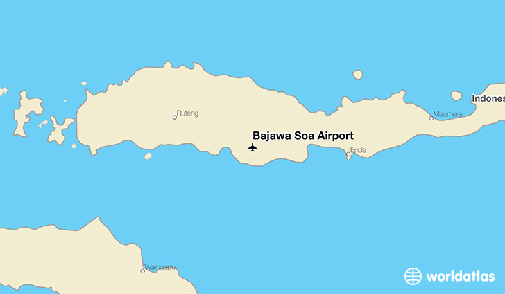 Bajawa Soa Airport location on a map