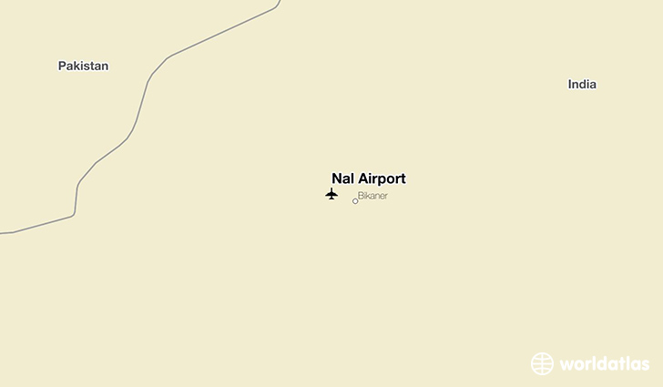 Nal Airport location on a map