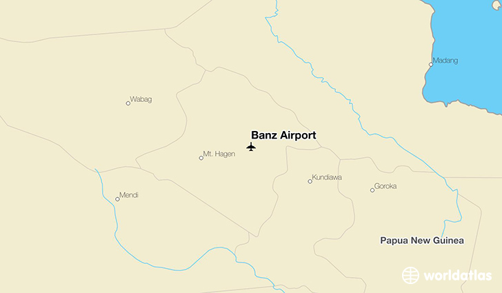 Banz Airport location on a map