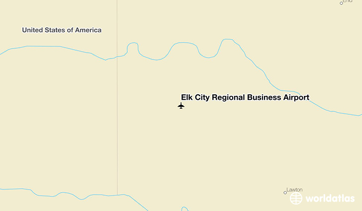 Elk City Regional Business Airport location on a map