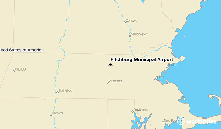 Fitchburg Municipal Airport location on a map
