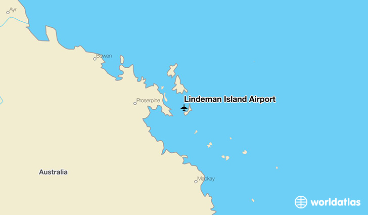Lindeman Island Airport location on a map