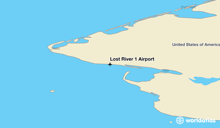 Lost River 1 Airport location on a map
