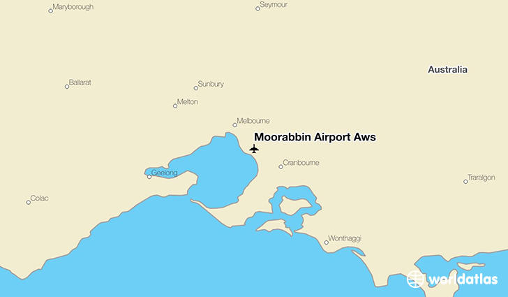 Moorabbin Airport Aws location on a map