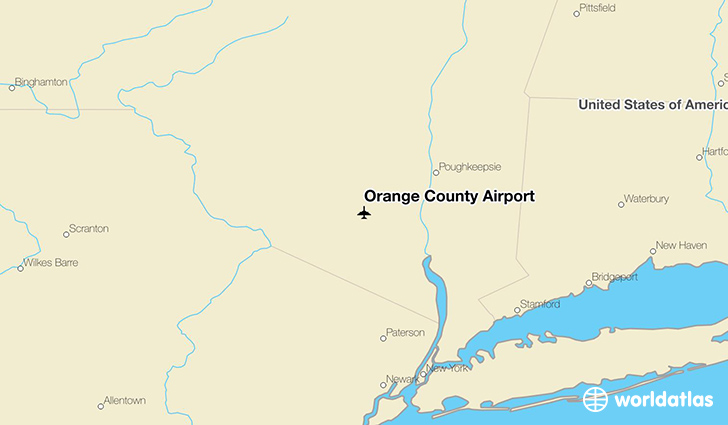 Orange County Airport location on a map