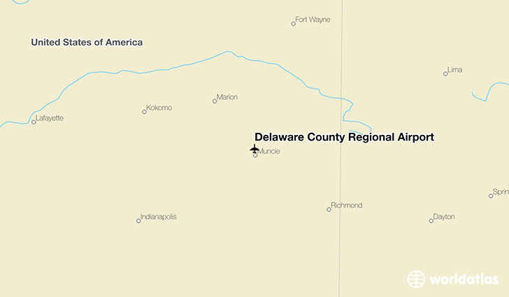 Delaware County Regional Airport location on a map