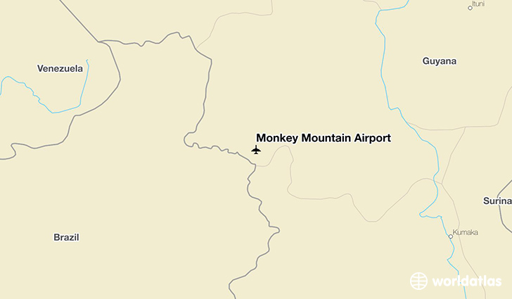 Monkey Mountain Airport location on a map