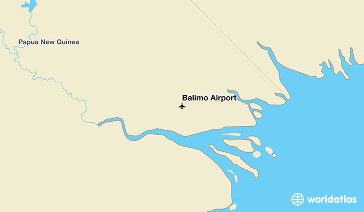 Balimo Airport location on a map