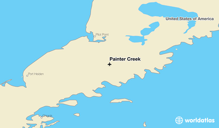 Painter Creek location on a map