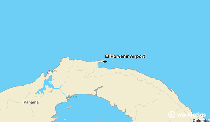 El Porvenir Airport location on a map