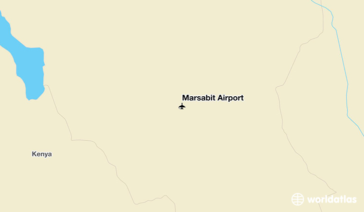 Marsabit Airport location on a map