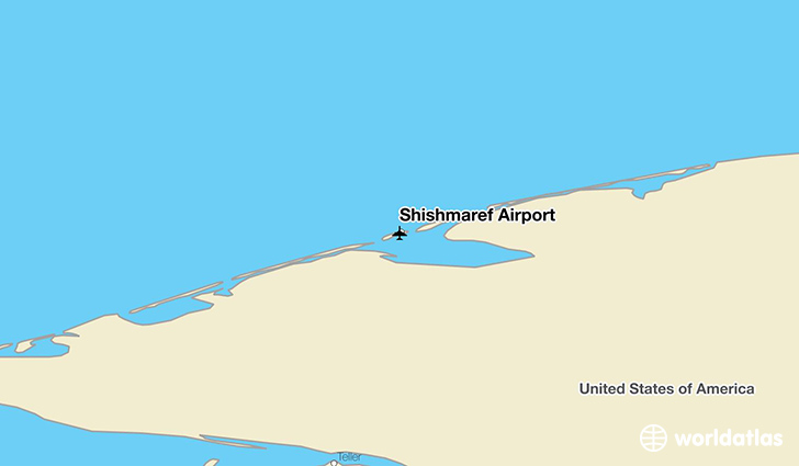 Shishmaref Airport location on a map