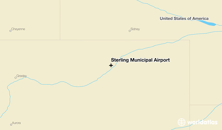 Sterling Municipal Airport location on a map