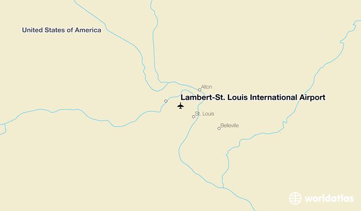 Lambert–St. Louis International Airport (STL) - WorldAtlas on beverly hills map, winchester map, lambert concourse d, caribbean resort myrtle beach map, clayton map, pacific map, lambert street baltimore map, st. louis metrolink route map, lambert parking map, saint louis map, st. louis lambert terminal map, university city map, lambert field map, lake lotawana map, st. louis city map, eureka map, normandy map, rock hill map, greece ferry map,