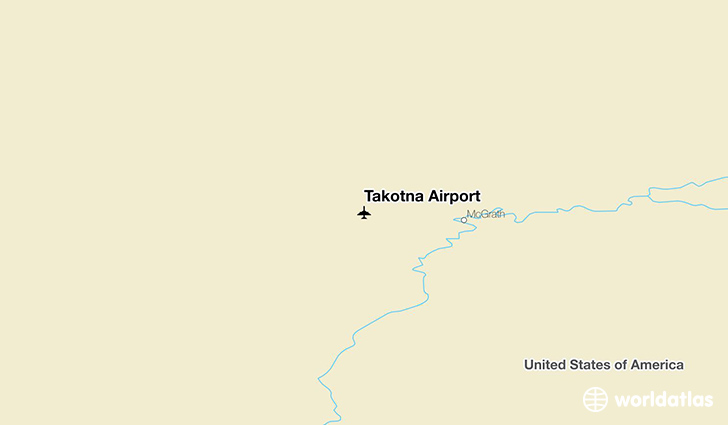 Takotna Airport location on a map