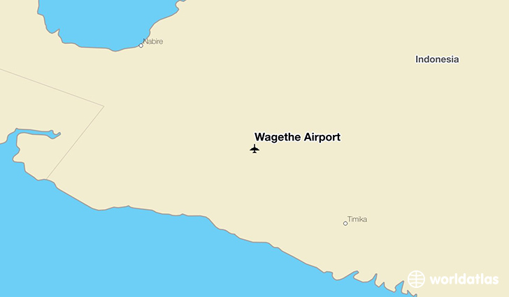 Wagethe Airport location on a map