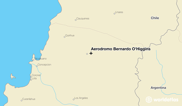 Aeródromo Bernardo O'Higgins location on a map