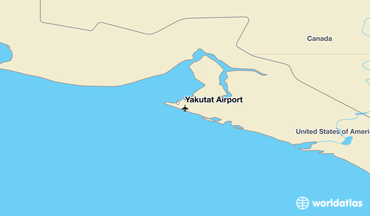 Yakutat Airport location on a map