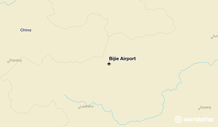 Bijie China  city photos gallery : Location of Bijie Airport on a map.