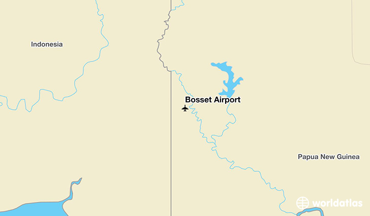 Bosset Airport location on a map