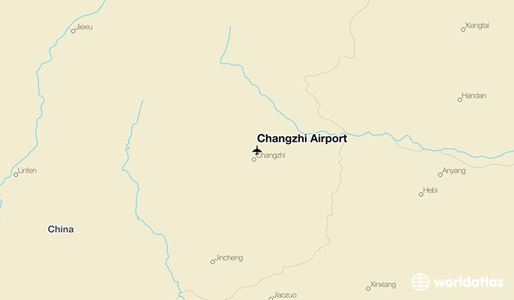 Changzhi Airport location on a map