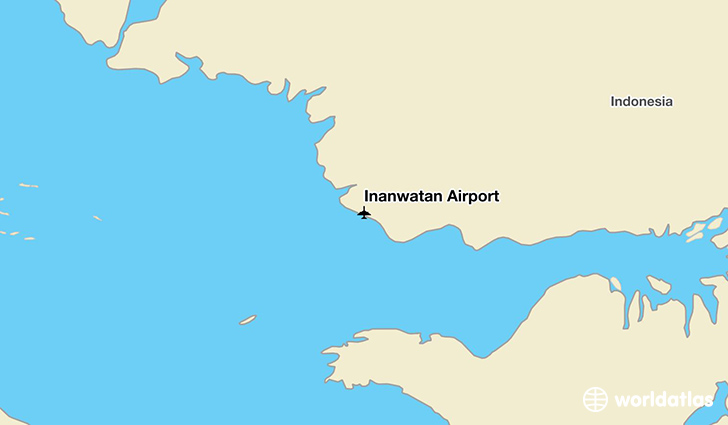Inanwatan Airport location on a map