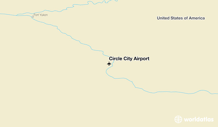 Circle City Airport location on a map