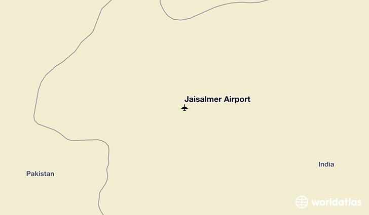 Jaisalmer Airport location on a map