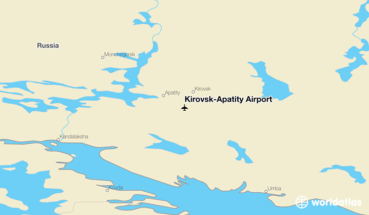 Kirovsk-Apatity Airport location on a map
