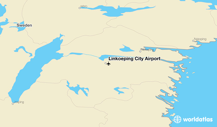 Linköping City Airport location on a map