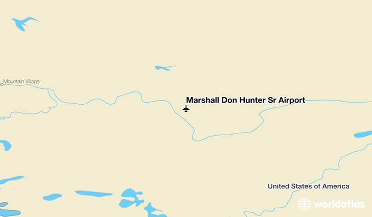 Marshall Don Hunter Sr Airport location on a map