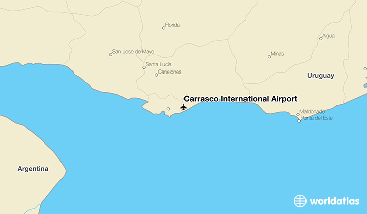 Carrasco International Airport location on a map