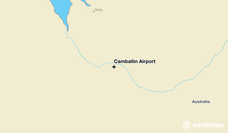 Camballin Airport location on a map