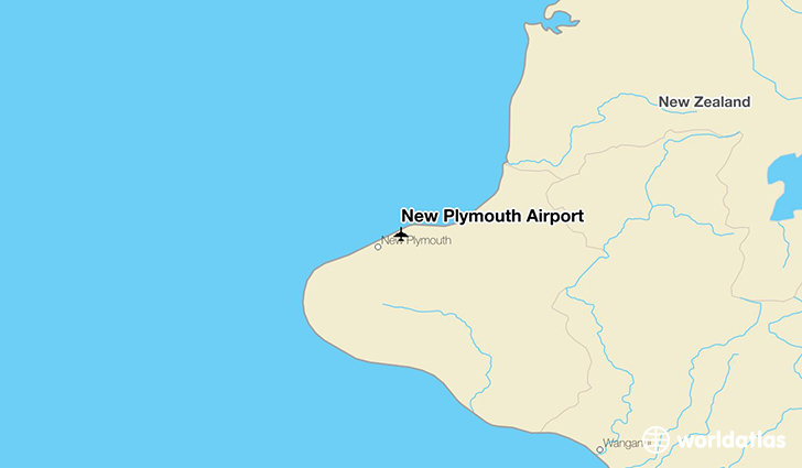 New Plymouth Airport location on a map