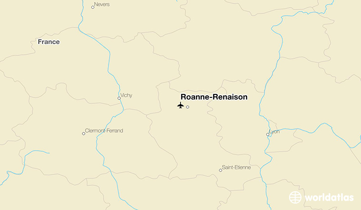 Roanne-Renaison location on a map