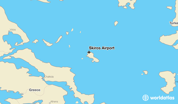 Skiros Airport location on a map