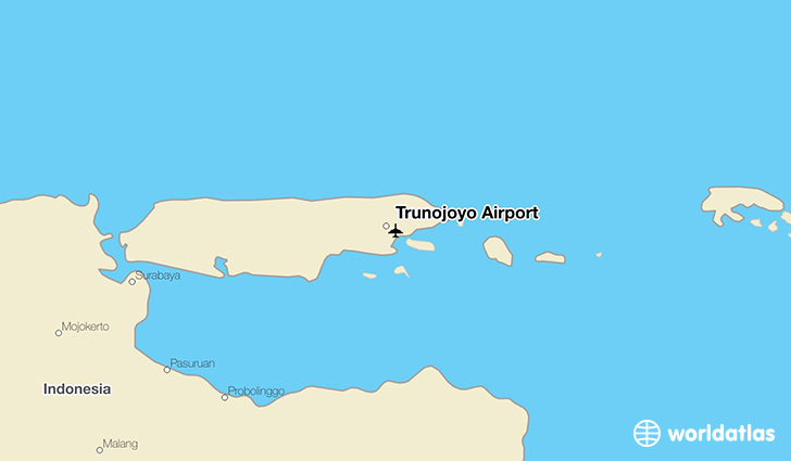 Trunojoyo Airport location on a map