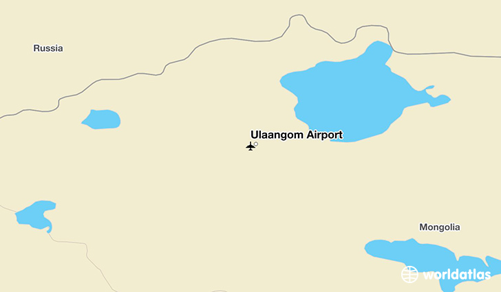 Ulaangom Airport location on a map