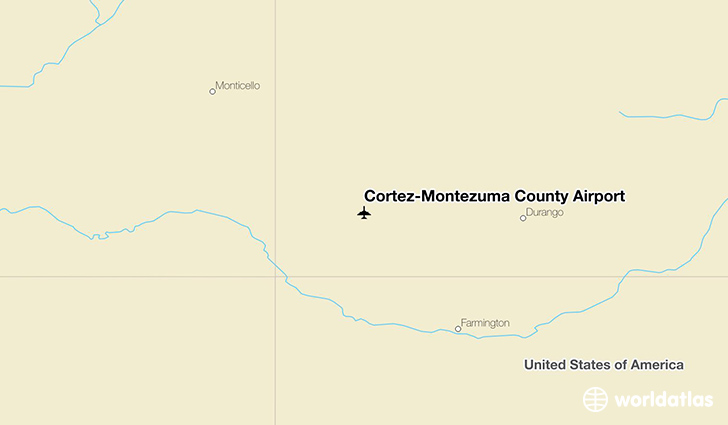 Cortez-Montezuma County Airport location on a map