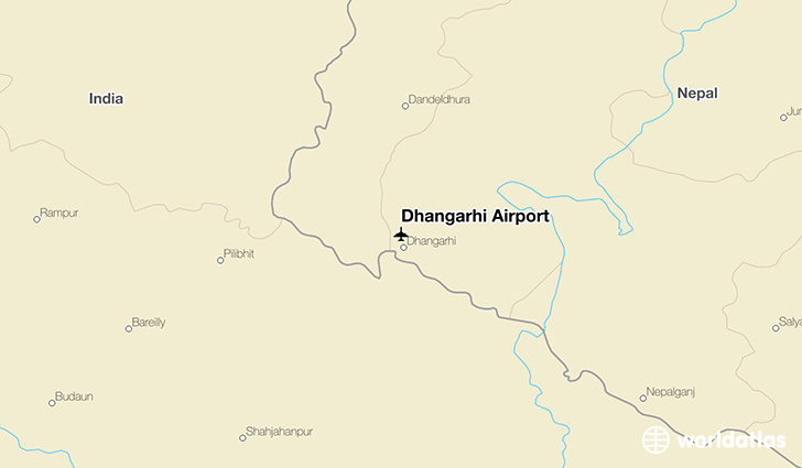 Dhangarhi Airport location on a map