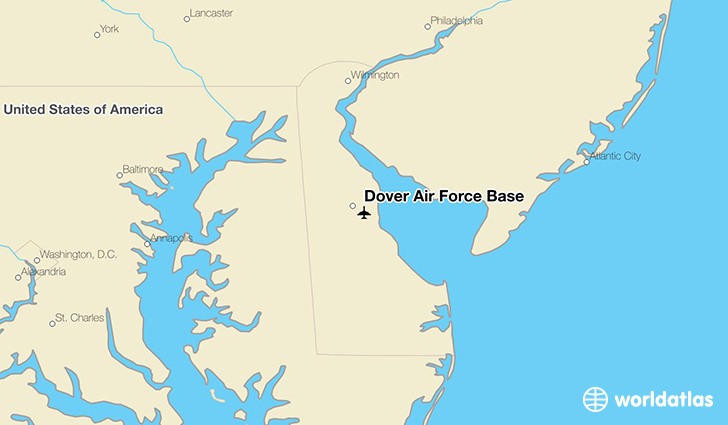 Dover Air Force Base location on a map