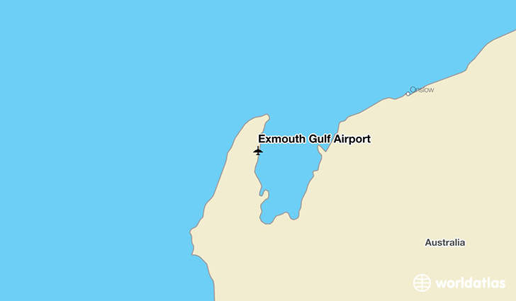 Exmouth Gulf Airport location on a map