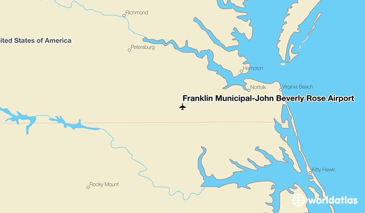 Franklin Municipal-John Beverly Rose Airport location on a map