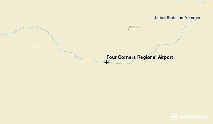 Four Corners Regional Airport location on a map