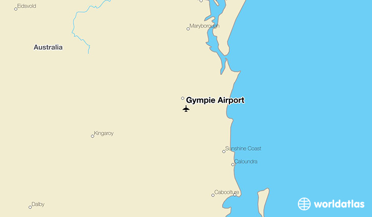 Gympie Airport location on a map