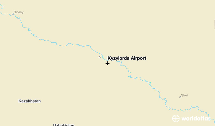 Kyzylorda Airport location on a map