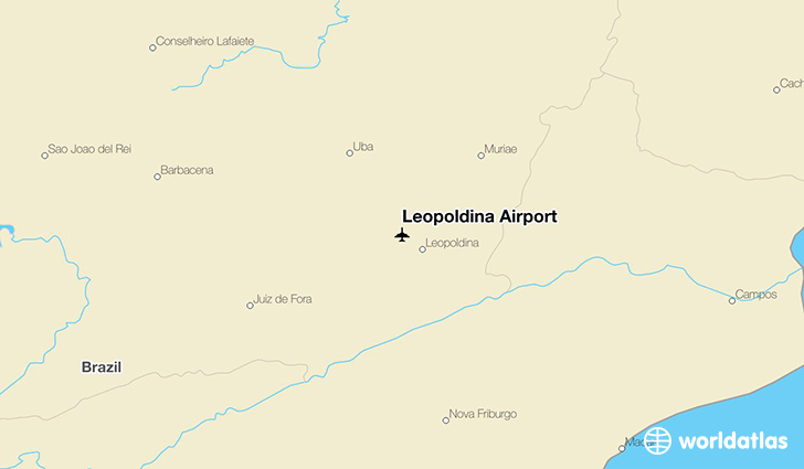 Leopoldina Airport location on a map